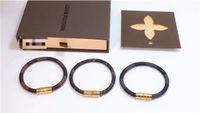 bracelete da corda da esperança venda por atacado-Tom esperança pulseira 4 tamanho Handmade Triplo Preto fio da corda pulseira de aço inoxidável preto âncora encantos pulseira com caixa e tag KKA1995