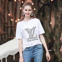 t shirt yeni tasarımlar kızlar toptan satış-Yeni Yaz Moda Erkekler ve kadınlar T-shirt öğrencileri Lüks tasarım Kısa kollu Tee Erkek kız rahat T-shirt tops # 426