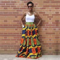styles de tissus traditionnels achat en gros de-2018 Vente chaude Sexy femmes longue jupe africaine maxi imprimé traditionnel africain style dame lâche jupe femme plus la taille S-XL