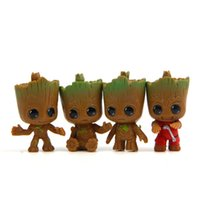 Wholesale cartoon style action figures resale online - Guardians of the Galaxy PVC Doll Toys New Cartoon movie Action Figure Small Groot Toys kid Gift styles C6735