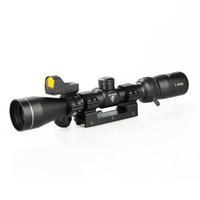 siyah tüfekler toptan satış-FLY SHARK Taktik 3x-9x40 Tüfek Kapsam 1 inç Tüp Siyah Red Dot Sight ile Açık Avcılık Için CL1-0402