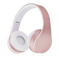 kızlar için bluetooth toptan satış-Moda Gül Altın Kablosuz Bluetooth Kulaklık Kulaklık Mikrofon Ile Bluetooth Kulak Kulaklık Üzerinde Kadınlar Kız Çocuklar Için T6190617