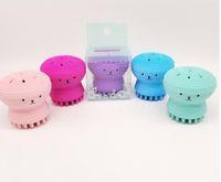 masajeadores al por mayor-Set de cepillos de silicona para la cara Cepillos de silicona para la limpieza facial Cepillos de mano para la cara del silicón Limpiador de cepillos facial