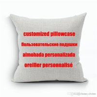 Wholesale custom pillow designs for sale - Group buy Custom Designs Linen Pillow Cover Print With Your Pictures Texts Designs Photos Unique DIY Square Throw Pillowcase Gift