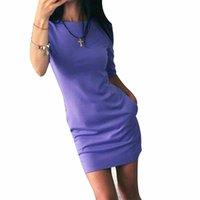 neues jahr minikleid großhandel-2018 dress neue jahr frauen sommer kurze strand vestido mini robe casual grundlegende weibliche kleider vestidos