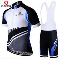 les usines vendent des vêtements achat en gros de-Vente chaude X-TIGER nouveau Jersey sangle à manches courtes ensemble hommes équitation en plein air équipement vélo vêtements usine vente directe