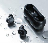bluetooth qcy al por mayor-QCY Qs2 Tws Bluetooth V5.0 Auriculares estéreo 3D Deportes auriculares inalámbrico con micrófono dual