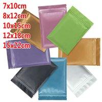 jóias universais venda por atacado-Universal Pequena jóia cor da máscara embalagem amostra zipper saco de pó de alumínio diária folha de saco selado atacado 7x10 8x12 10x15 12x18 15x22cm