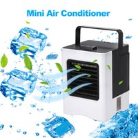 ofis için mini fan soğutucu toptan satış-Fan For Office Ev Araç Soğutma Şarj edilebilir Taşınabilir Klima USB Mini Hava Cooler Hanlheld Hava