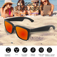 Wholesale touch hands resale online - 2020 New arrival Wireless Bluetooth Sunglasses open ear technology eyewear touch sensor make hands free voice remote Smart Audio Glasses