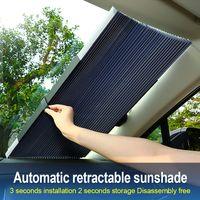 janelas do carro cortina do sol cortina venda por atacado-Pára-brisa Retrátil do carro Sun Sombra Tampa Protetor de Sombrinha Frente Frente folha Da janela Traseira para Solar UV proteger 46/65/70/80 cm