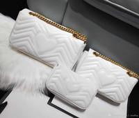 Wholesale envelope love letter for sale - Group buy Classic luxury designer handbag high quality leather women s Messenger bag fashion love V wave shoulder bag chain bag