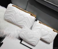 bolso de diseñador v al por mayor-Diseñador de lujo clásico bolso de cuero de alta calidad de las mujeres bolsa de mensajero de la moda amor V ola bolsa de hombro