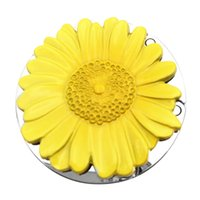 Wholesale purse handbag table hook resale online - Portable Bag Holder Purse Hook Handbag Hook Sunflower Holder Wall Hanger Metal Hanger Table Handbag Purse