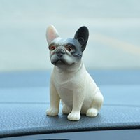 Wholesale mini lovely dolls resale online - Cute Decoration Mini Resin French Bulldog Doll Car Ornament Lovely Automotive Interior Dashboard Toys Kids Gift Auto Accessories