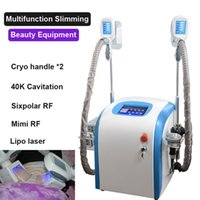 Wholesale rf lipo machine resale online - 2019 Portable Slimming Machine Cryotherapy Cryo Lipolysis Ultrasound RF Liposuction Lipo Laser Machine Fat Freezing Machine