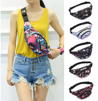 Wholesale bicycle collection resale online - Unisex Women Men Printed Waist Pack Bicycle Cycling Sport Belt Bag Travel Hiking Bag coin purse Collection Waist Pack sac banane