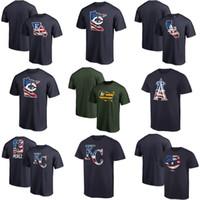 ingrosso stelle twin-Royals Angels Twins Athletics 2019 Stars Stripes Banner Wave Uomo Youth Donna Nero Grigio Rosso Taglia S-XXXL T-Shirt