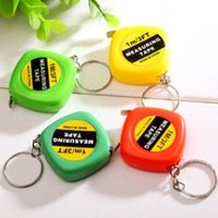 Wholesale tape keychain resale online - MINI ONE METER BAND TAPE RULER MEASURING REEL KEYCHAIN KEYRING PRACTICAL CHARM KEY CHAIN KEY RING LOVELY KEYS GADGET ACCESSORIES DAILY GIFT