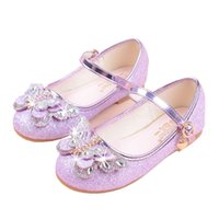 Wholesale cute sandals for girls resale online - 2019 New Spring Children Leather Shoes Sequin Princess Girls Shoes For Girls Party Wedding Baby Student Cute Soft Sandals