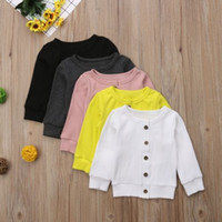 Wholesale baby soft jacket for sale - Group buy Solid New arrival Spring Autumn Children Kids girls hoodies Baby Boys girls Soft Warm Cotton Jackets Coats kids girls