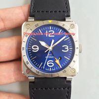 reloj de pulsera para hombre suizo al por mayor-5 estilo de lujo de calidad superior 42 mm aviación BR 03-92 relojes de pulsera de cerámica suizo CAL.9015 movimiento automático reloj para hombre relojes