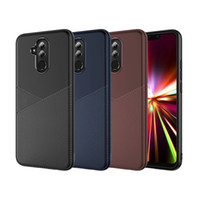 Wholesale honor back case leather online - Hybrid Anti Slip Soft TPU Leather Back Case Cover For Huawei Mate Lite Y5 Y6 Y7 Prime Y9 Honor S Play P Smart P30 Pro Nova