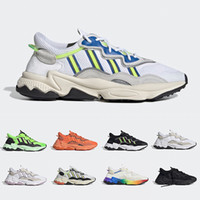 Wholesale buckled shoe for men resale online - 2019 Pride M Reflective Xeno Ozweego For Men Women Casual Shoes Neon Green Solar Yellow Halloween Tones Core Black Trainer Sports Sneakers