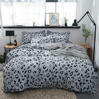 Wholesale leopard bedding set sheets resale online - Grey Leopard Printed Bed Cover Set Duvet Cover Adult Child Bed Sheets And Pillowcases Comforter Princess Bedding Set