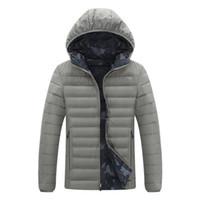 sökülebilir şort erkekleri toptan satış-2019 Yeni Kış erkek Sıcak Tutmak Kuzey Aşağı Ceket Kısa Ayrılabilir Kap Kalınlaşmak Moda Gençlik Beyaz Ördek Yüz Ceket Rüzgar Geçirmez Kol 30L