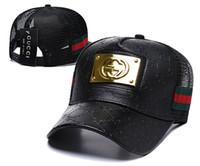 модная одежда оптовых-Хороший дизайн новый бренд мужские дизайнерские шляпы snapback бейсболки роскошные мужчины женщины мода шляпа лето дальнобойщик casquette причинно-следственная бейсболка