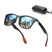 черные старинные квадратные очки оптовых-Vintage Polarized Square Sunglasses Men 2019 BRAND DESIGN Sunglasses Women Driving Glasses Classic Black Red Eyewear Gafas UV400