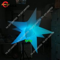 Wholesale inflatable party decoration star resale online - LED Inflatable Star Balloon Decorations for Holidays Event Parties with Led RGB Light star inflatable air balloons with spike