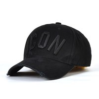 Wholesale red black hats resale online - 2019 popularICON baseball caps hats brand icon Cotton Embroidery hats for men panel Black snapback hat men casual visor gorras bone casque