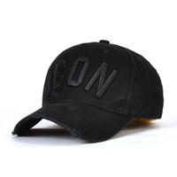 Wholesale caps for sale - Group buy 2019 popularICON baseball caps hats brand icon Cotton Embroidery hats for men panel Black snapback hat men casual visor gorras bone casque