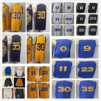 ingrosso jersey blu giallo-Pullover di calcio all'ingrosso poco costoso Jersey superiore nero bianco 2019 nuovo di giallo della città retro Jersey blu libero di trasporto