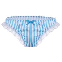 daa8de3f2e64 Wholesale ruffle bikini panties for sale - Group buy Mens Sexy Lingerie  Briefs Soft Satin Ruffle