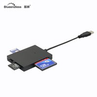 Wholesale usb multi sd card reader for sale - Group buy 5 port micro type C usb hub multi card tf sd cf ms xd reader combo windows desktop splitter portable plastic hub for macbook