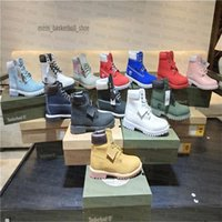Wholesale waterproof running shoes online - Classic Timberland Inch Boots Shoes Mountaineering Shoes Designer Sports Running Shoes for Men Women Sneakers Trainers Waterproof With Box