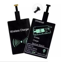 qi empfänger s5 großhandel-Universal Qi Wireless-Ladegerät Empfängermodul Schnellladeadapter für Samsung Galaxy S5 S4 iPhone 5 6S 6SP