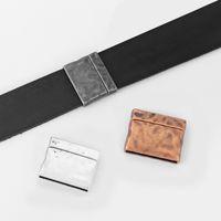 connecteur plat achat en gros de-5Sets Martelé 25x3mm Plat Magnétique Fermoir Extrémité Connecteur Fermoir Pour Cordon En Cuir Plat Bracelet Bijoux Conclusions