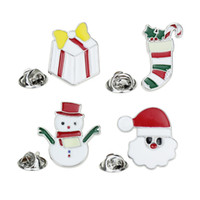 Wholesale beautiful brooches for sale - Group buy Christmas Theme Halloween Brooch Pin Gift Beautiful Multi Colored Metal Christmas Brooch Pin Christmas Tree Brooches