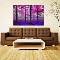 ingrosso legno verniciato a olio-1 PZ Taglia S M L Viola Woods Spray Oil Painting Art Immagini Canvas Print Picture Arazzi per Soggiorno Home Decor