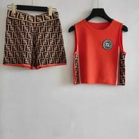 Wholesale womens sleeveless t shirts online – design Fashion Brand Womens Mens T Shirt Shorts Sets New Arrival Luxury Women Tracksuits Summer Letter F Women Designer Vest Suits