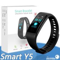 sport kinder aktivitäten großhandel-Y5 Smart Armband Armband Fitness Tracker Farbdisplay Herzfrequenz Schlaf Schrittzähler Sport Wasserdicht Activity Tracker für iPhone Samsung