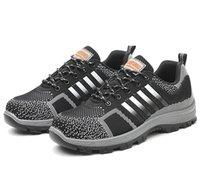 botas de seguridad clásicas al por mayor-Nueva raya clásica Unisex zapatos de seguridad en el trabajo zapatillas de protección transpirables al aire libre protección AIR Malla botas hombres