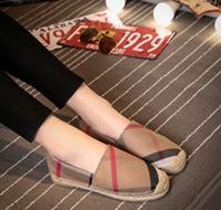 ingrosso scarpe casuali della tela di canapa delle donne-2018 donne scarpe casual donna pescatore appartamenti signore scarpe di tela signora stile europeo scarpe a fondo piatto zy863