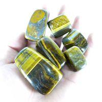 Wholesale tigers eye gemstone for sale - Group buy polished Natural Yellow Tiger Eye Stone Quartz Crystal Gravel Tumbling gemstone for decorative healing