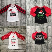 Wholesale baby thanksgiving shirt for sale - Group buy Baby Kids T Shirt Cartoon Printed Patchwork Christmas Tops Boys Designer Clothes Girls Halloween Tops Kids Thanksgiving Clothes M T