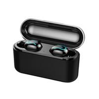 bluetooth kulaklıklar oyun toptan satış-Kablosuz Bluetooth Kulaklıklar Q32 Cep Telefonu Kulaklık Kulaklıklar 1500 mah Güç Banka Fonksiyonu Ile Stereo Spor Akülü EDR Handsfree Oyun